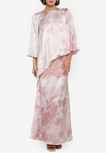 Zalia pink Asymmetrical Flare Kurung Kedah 52A8FAAA77E7B0GS_1