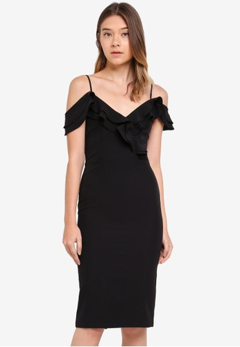 Bardot black Raene Frill Dress BA332AA0STBSMY_1