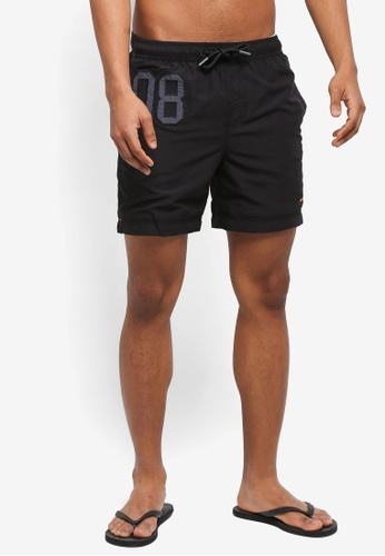 Superdry black Waterpolo Swim Short EA103US3613411GS_1