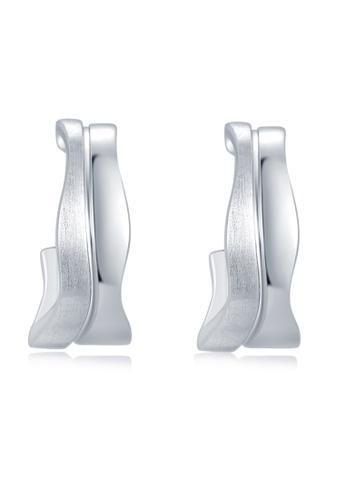 MBLife silver 925 Sterling Silver J-Hoop Earrings 11978ACC8E4382GS_1