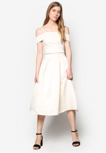 Jolenesprit 鞋e 挖肩上衣及膝裙套裝, 服飾, 及膝裙