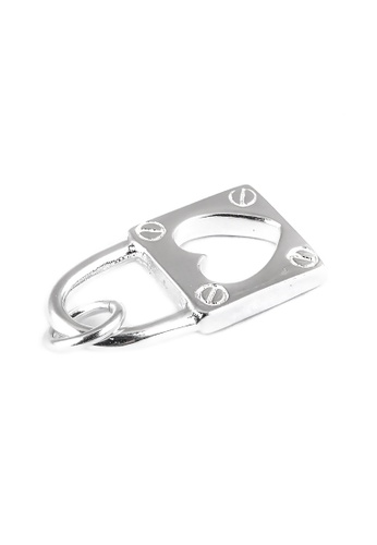 Silverworks silver Audrey Silver Heart Pendant Padlock Design A7E33AC6ACCF7EGS_1