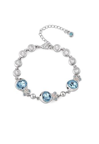 ADORA blue Swarovski Fish Bracelet 8EEE3ACBD8DF32GS_1