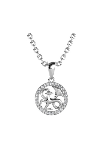 Her Jewellery white Her Jewellery Circlet Capricon Pendant with Necklace (White Gold) embellished with Crystals from Swarovski D3D6FAC03BD761GS_1