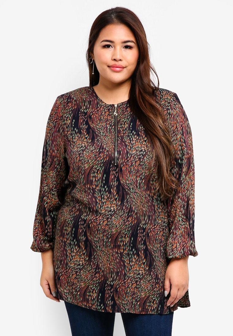 Blouse Size BYN Plus Green Muslimah wUpvnHqX