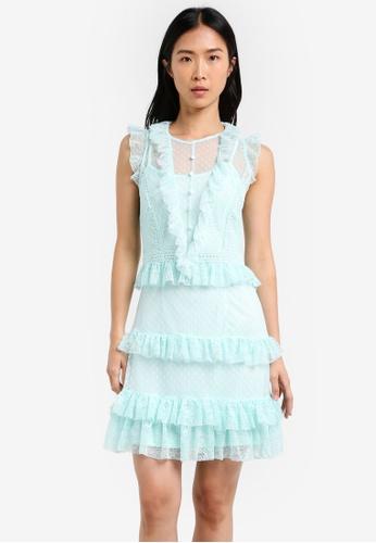 True Decadence green Frilly Midi Dress TR715AA0S2Y5MY_1