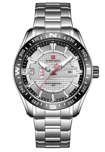 Naviforce silver Naviforce - Jam Tangan Pria - Silver - Stainless Steel Bracelet - NF9157-B 2BDD5AC387D0F7GS_1