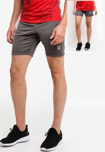 FBT grey and red Sports Shorts 252C8AAD36EBC7GS_1