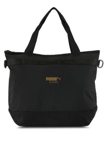 Puma black Puma Suede Shopper Bag PU549AC0SWCBMY_1