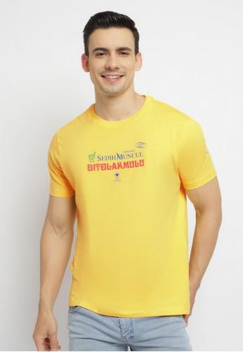 Poshboy yellow Poshboy Di Tolak Mulu T-Shirt Yellow 17E0DAAC8AB0E6GS_1