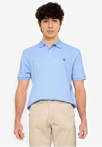 Springfield blue Essential Pique Polo Shirt 7F6BEAA211F9A5GS_1