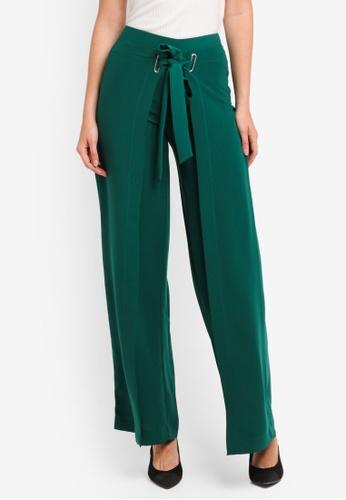 Mango green Bow Belt Trousers 04248AAC9034A8GS_1