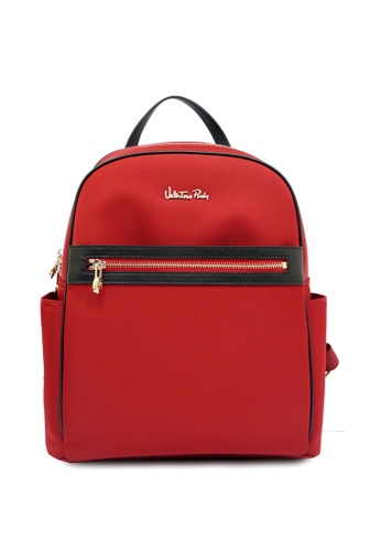 Valentino Rudy red Valentino Rudy Nylon Leather trimmed Backpack AE5F6AC7E1192BGS_1