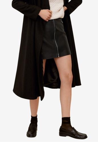 Mango black Zip Mini Skirt 6AF05AA5B73BDBGS_1