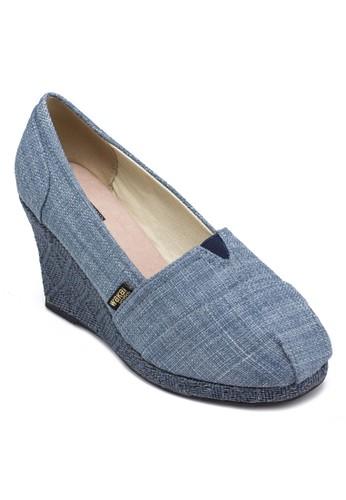 Shingetaesprit hk store 簡約編織楔形鞋, 女鞋, 中跟