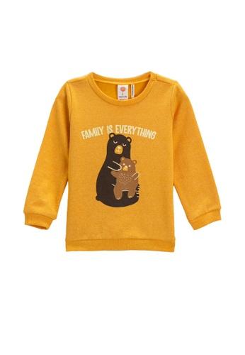 KOTON yellow Sweatshirt For Baby Boys 93F88KABE3909AGS_1