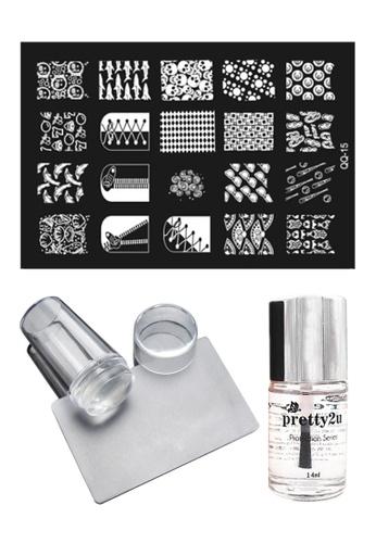 Pretty2u Nail Art Stamp Plate QQ15 Set PR716BE34KOZMY_1