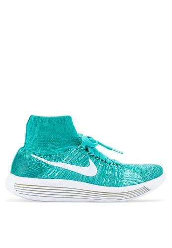 Nike white Women's Nike Flyknit Lunar Epic Running Shoes NI126SH64VQHMY_1