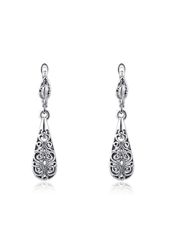 Kings Collection silver Platinum Black Drop Earrings BB5A2AC6EF8357GS_1