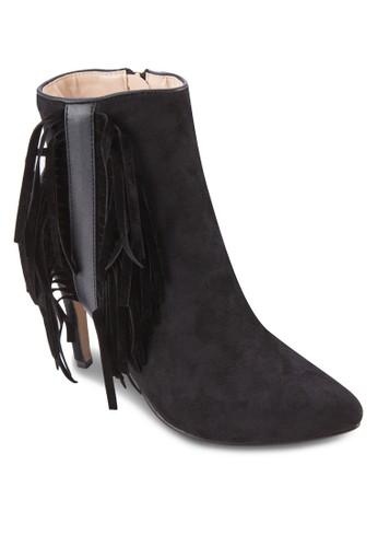 側流蘇尖esprit hk outlet頭高跟短靴, 女鞋, 鞋