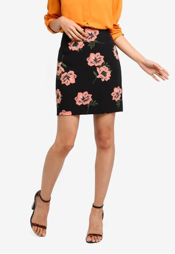 2b025d152c Dorothy Perkins black Floral Scuba Mini Skirt 5394FAA599964FGS_1. CLICK TO  ZOOM