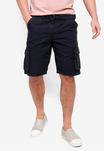 Brave Soul navy Canvas Shorts 65E74AA734A8BFGS_1