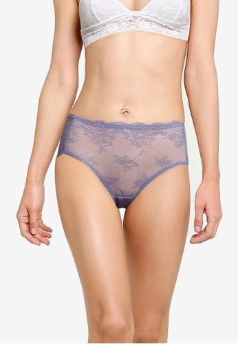 Impression blue Mesh Lace Panties 9D071US390B5AFGS_1