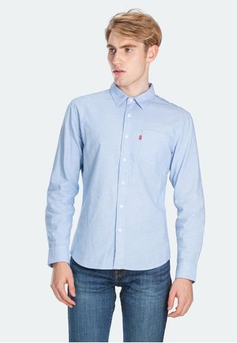 Levi's blue Levi's Slim Fit Sunset One Pocket Shirt Men 86619-0010 25407AAEAA0B4FGS_1