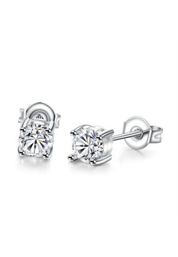 Tiaria white Tiaria Earrings Aksesoris Anting Lapis Emas White Gold AKE006--K10 FB876AC12BB467GS_1