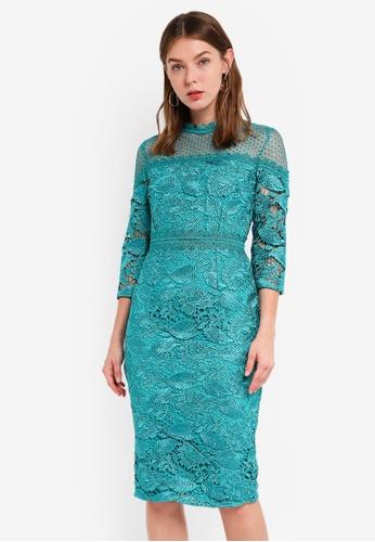 Little Mistress green Bodycon Dress 00C26AA1469130GS_1