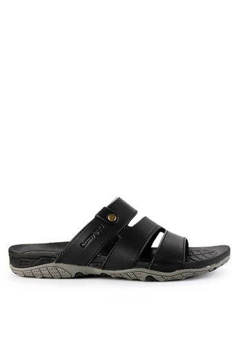 Homyped black Yoga 02 Men Sandals HO842SH0VNJAID_1
