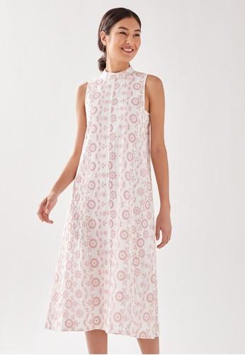 Love, Bonito pink Emberetta Broderie Midi Dress 922F0AA60849C8GS_1