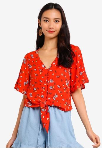 383543efb826c5 Shop Brave Soul Denise Tie Front Crop Blouse Online on ZALORA ...