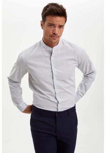 DeFacto green Long Sleeve Cotton Shirt 77A8CAA565DB12GS_1