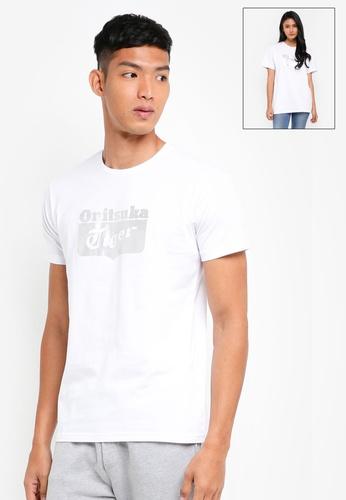Onitsuka Tiger white Logo T-Shirt ON067AA0SVX0MY_1
