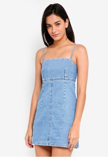 TOPSHOP blue Petite Bodycon Denim Dress 70A49AABC9454AGS_1