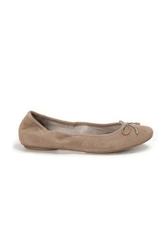 Shu Talk beige AMAZTEP New Comfy Bow Ballerina Ballet Flats in Taupe A9266SH717D880GS_1