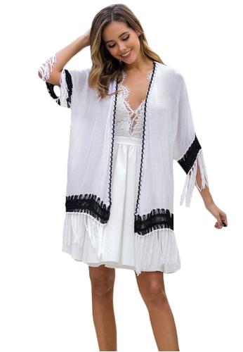 LYCKA white LTH4156-European Style Beach Robe-White 58EB3USCAB98F7GS_1