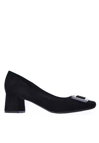 Twenty Eight Shoes 5cm尖頭方扣絨面高踭鞋1270-15 D2E91SH90AB48CGS_1