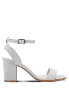 eceb396f3b71 ZALORA grey Ankle Strap Heeled Sandals D65A8SH9A174E4GS 1