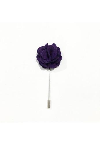 The Little Link Cufflinks Amethyst Wool Lapel Rose TH089AC26HJTSG_1
