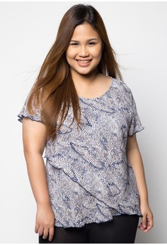 Short Sleeves Plus Size Blouse