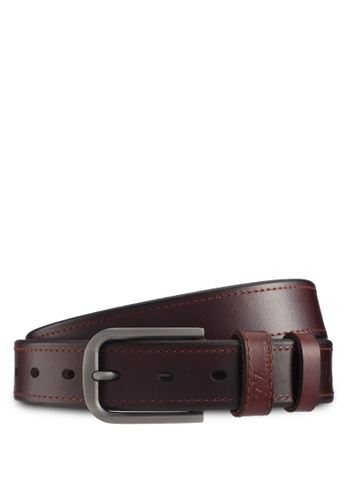 RAV Design brown 35MM Leather Belt 80D20ACF7DC0AFGS_1