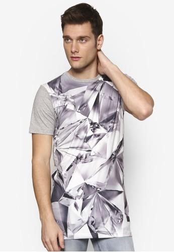鑽石紋理印花 TEE, 服飾, zalora 泳衣T恤