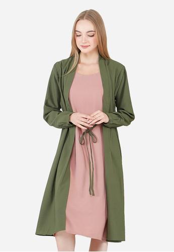 Urban Exchange green Urban Exchange Brenda Green Dress B4711AA933C7BEGS_1