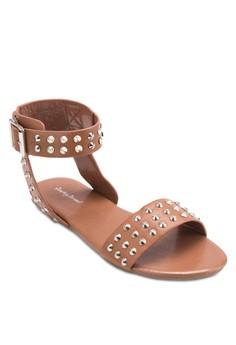 Studded Buckle Flat Sandal