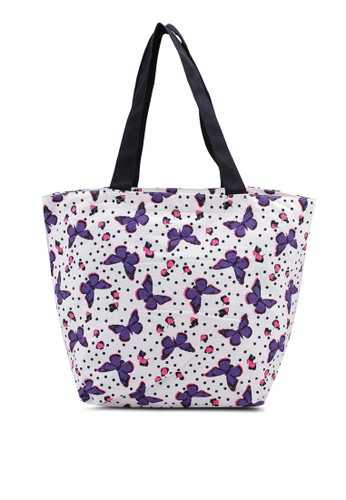 OVS white and multi Floral Patterned Cotton Shopping Bag 7EAF5ACD27C1F2GS_1