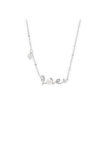 Glamorousky white 925 Sterling Silver Simple Romantic Love Freshwater Pearl Necklace 0F40FAC336065AGS_1