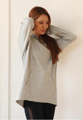 BARREL grey Women's Tail Pocket T-ShirtsMelange Grey 0161EAA45B7E4EGS_1