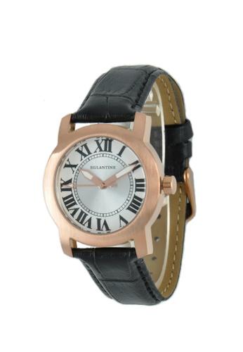 EGLANTINE gold EGLANTINE® Emily Ladies Rose Gold Plated Steel Quartz Watch on Black Leather Strap 02C8CAC59D26CFGS_1